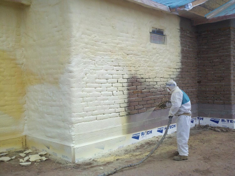 Пенополиуретан утепление стен